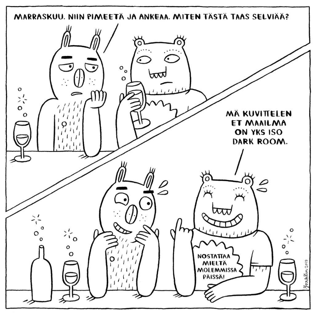 Ugly Monsters comic, Rumat möröt sarjakuva